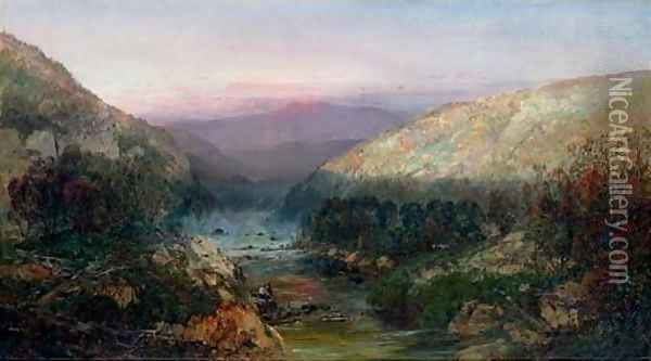 A Mountain Stream in Western Pennsylvania Oil Painting - William Louis Sonntag