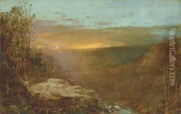 A View From Mount Willard, New Hampshire Oil Painting - William Louis Sonntag