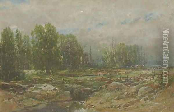Landscape with Brook 2 Oil Painting - William Louis Sonntag