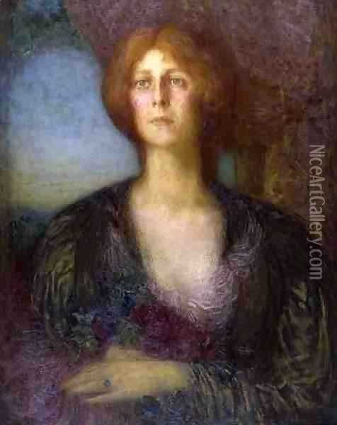 Portrait of a Lady Oil Painting - William Shackleton