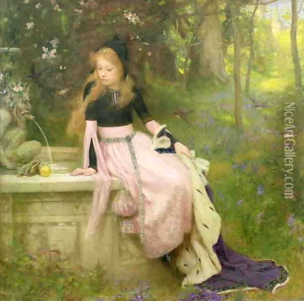 The Princess and the Frog, 1894 Oil Painting - William Robert Symonds
