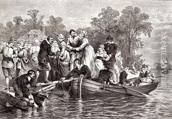 Wives for the Settlers at Jamestown, from Pioneers in the Settlement of America by William A. Craft, 1876 Oil Painting - William Ludlow Sheppard