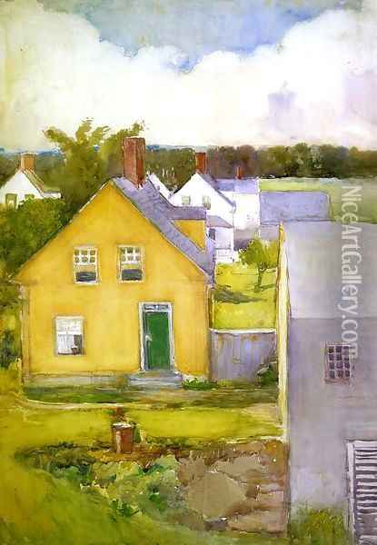 The Yellow House Oil Painting - Annie Gooding Sykes