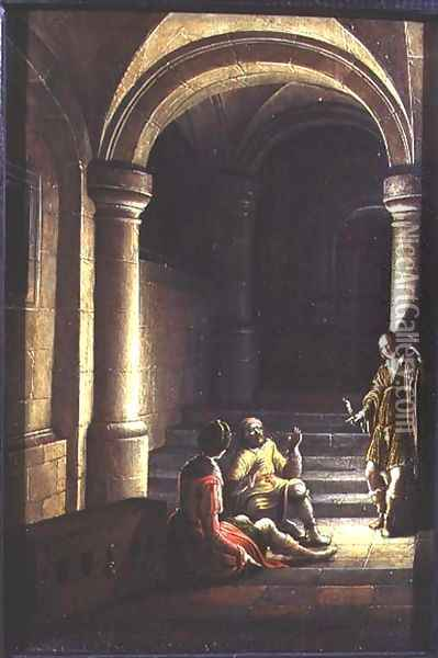 Joseph in prison interpreting the dreams of the baker and the butler, 1624 Oil Painting - Hendrick van, the Younger Steenwyck