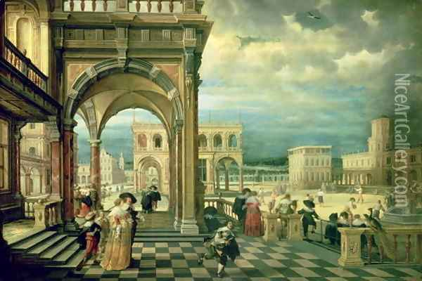 Italian Palace, 1623 Oil Painting - Hendrick van, the Younger Steenwyck