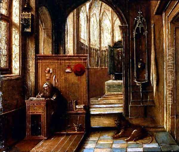 St. Jerome in his Study Oil Painting - Hendrick van, the Younger Steenwyck