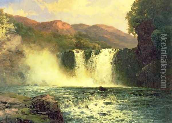 The Waterfall Oil Painting - John Brandon Smith