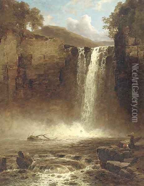 Falls of Foyen Oil Painting - John Brandon Smith