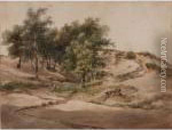 A Wooded Landscape Near Beekhuizen Oil Painting - Andreas Schelfhout