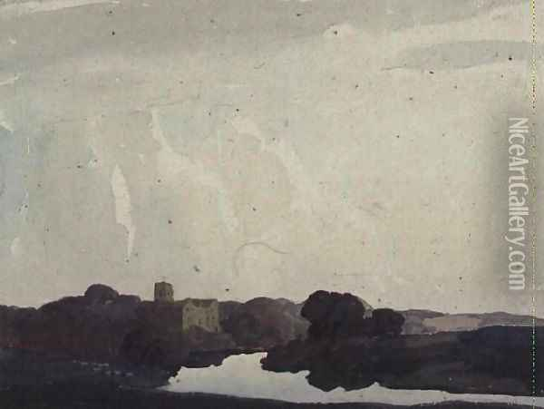 Odell Castle on the Ouse Oil Painting - Thurston Laidlaw Shoosmith