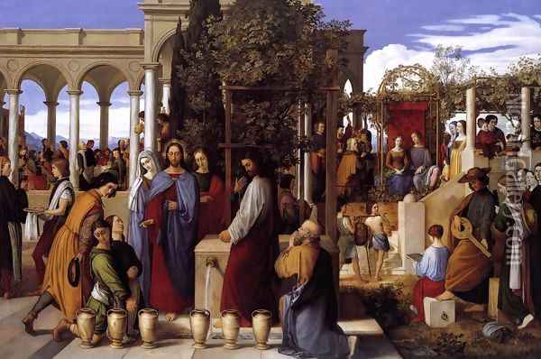 The Wedding Feast at Cana 1819 Oil Painting - Julius Schnorr Von Carolsfeld