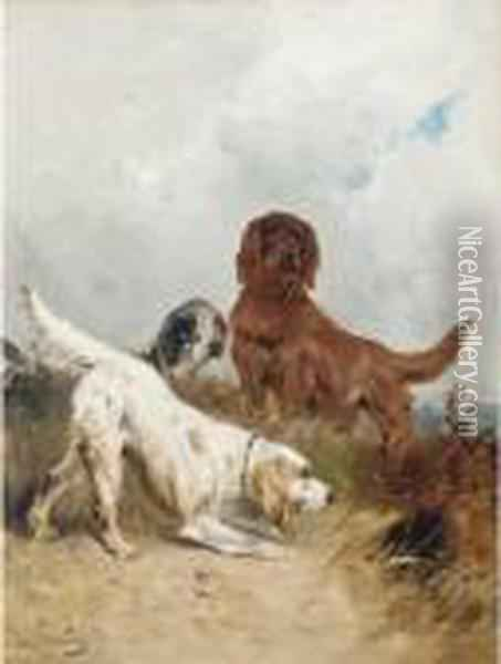 Setters On The Scent Oil Painting - Henry Schouten
