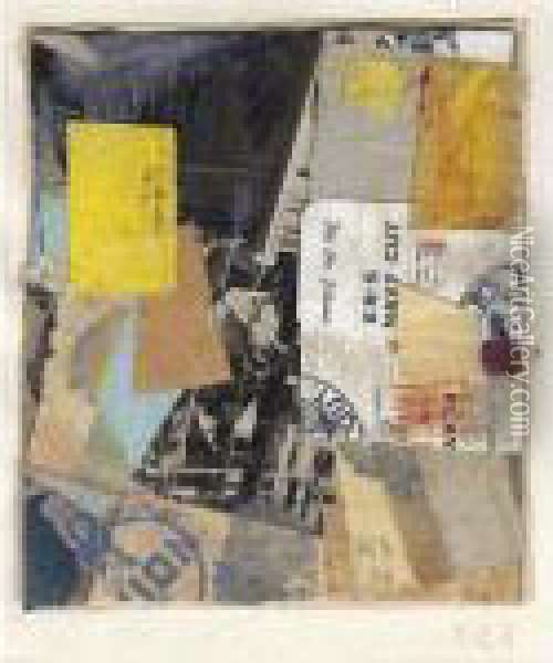 Untitled (c.28) Oil Painting - Kurt Schwitters