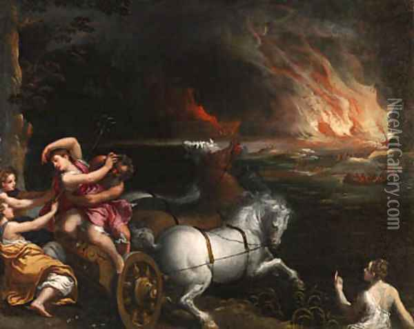 The Rape of Persephone Oil Painting - Ippolito Scarsella (see Scarsellino)