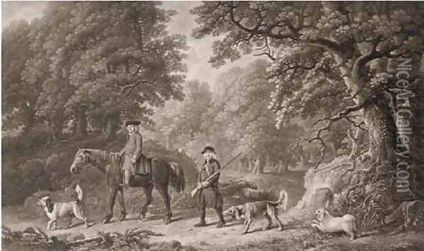 Game keepers, by Henry Birche (Lennox-Boyd, Dixon and Clayton nos. 87,88) Oil Painting - George Stubbs