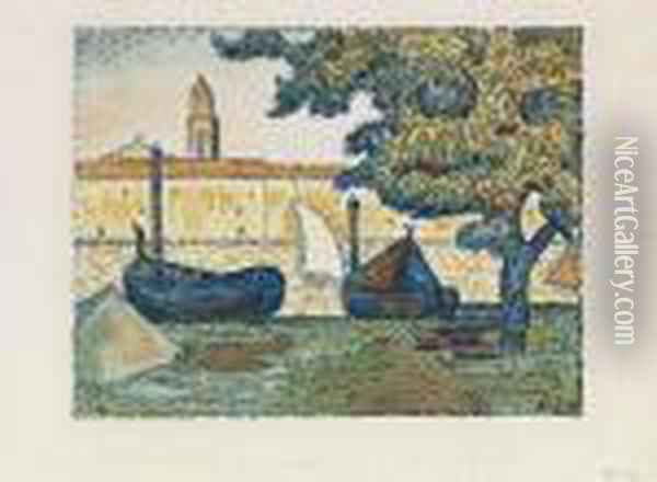 Saint Tropez Ii Oil Painting - Paul Signac