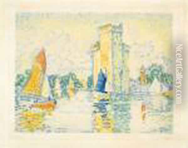 Le Port De La Rochelle Oil Painting - Paul Signac