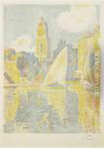 Saint-tropez: Le Port Oil Painting - Paul Signac