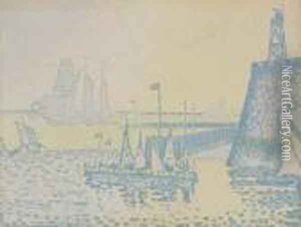 Le Soir. Oil Painting - Paul Signac