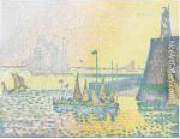 Pan Oil Painting - Paul Signac