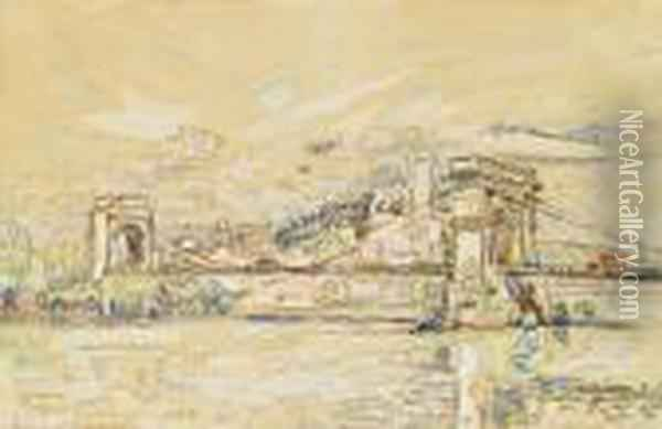 Beaucaire Oil Painting - Paul Signac