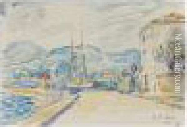 Executed In Sainte-maxime In November 1899. Oil Painting - Paul Signac