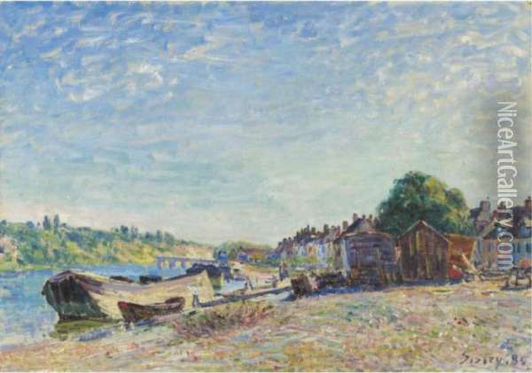 Les Bords Du Loing A Saint-mammes Oil Painting - Alfred Sisley