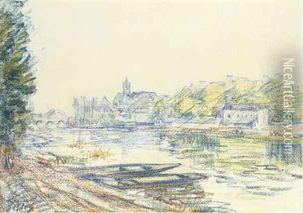 Les Bords Du Loing Oil Painting - Alfred Sisley
