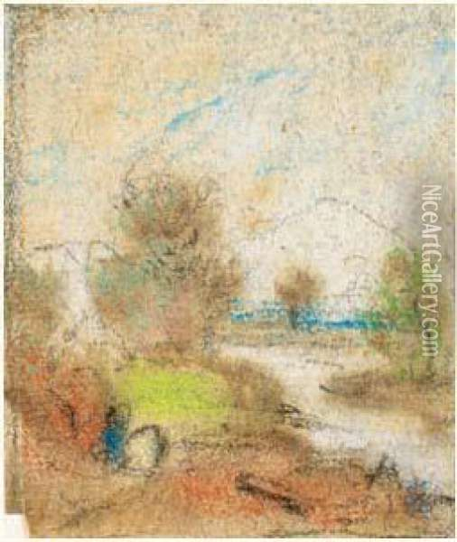Paysage Oil Painting - Alfred Sisley