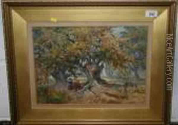 Sherwood Forest Oil Painting - James Burrell-Smith