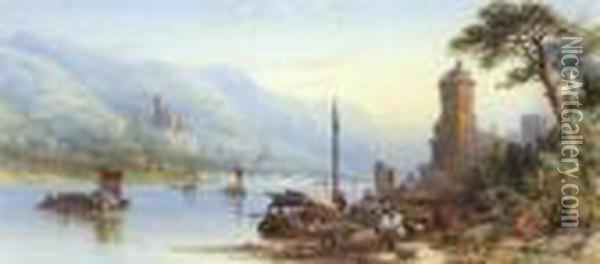 Rhine Oil Painting - James Burrell-Smith