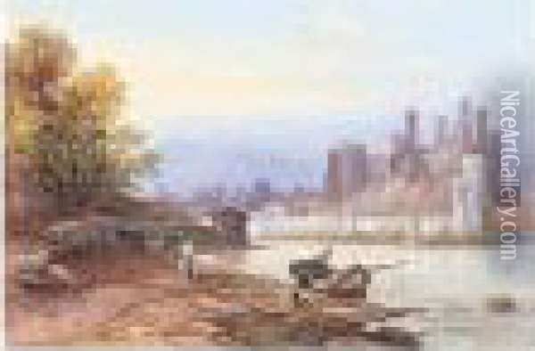Conway Castle Oil Painting - James Burrell-Smith