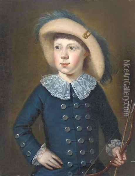 The young archer Oil Painting - English School