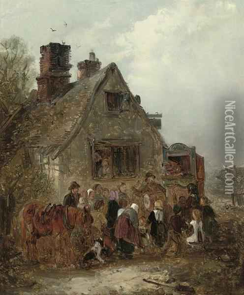 The Punch And Judy Show Oil Painting - Edward Robert Smythe