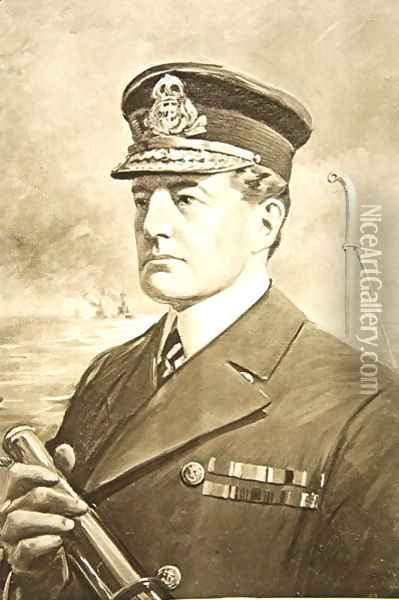 Vice-Admiral Sir David Beatty Oil Painting - Charles Mills Sheldon