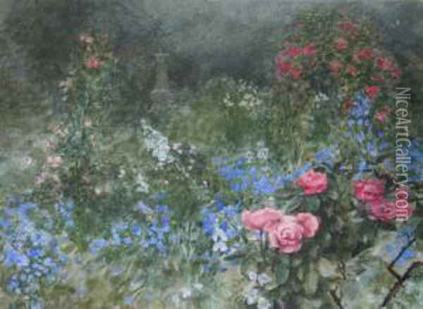 The End Of The Garden Oil Painting - Eloise Harriet Stannard