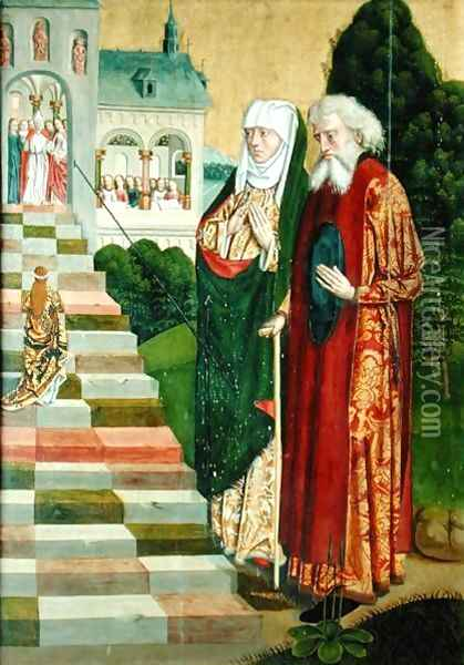 Presentation of the Virgin, from the Dome altar, 1499 Oil Painting - Absolon Stumme