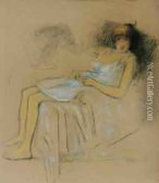 Modele Au Repos Oil Painting - Theophile Alexandre Steinlen