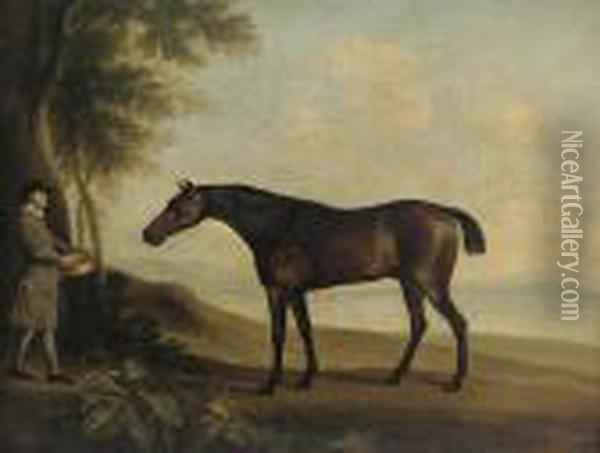 'sharke' With Master Price Oil Painting - George Stubbs