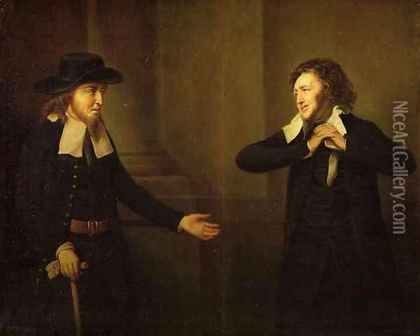 Shylock and Tubal from Act III, Scene ii of The Merchant of Venice by William Shakespeare Oil Painting - Herbert Stoppelaer