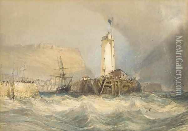 Coming out on the tide Oil Painting - William Collingwood Smith