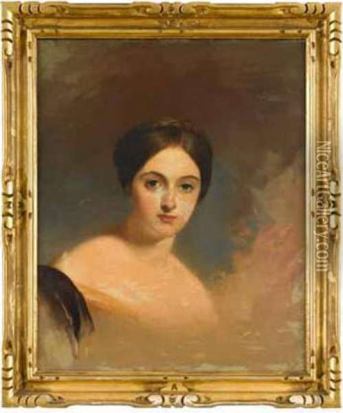 Portrait Of Miss Nancy Shaw Oil Painting - Thomas Sully