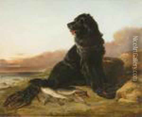 Guarding The Catch Oil Painting - Arthur Fitzwilliam Tait
