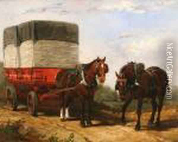 A Heavy Load Oil Painting - Arthur Fitzwilliam Tait