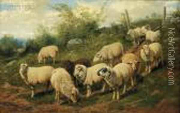Heading Home From Pasture Oil Painting - Arthur Fitzwilliam Tait