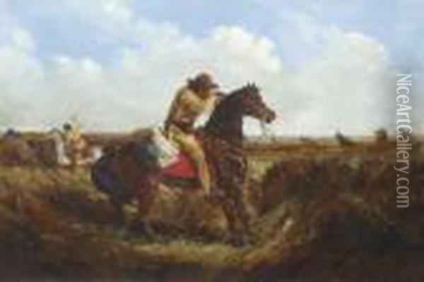 The Check--keep Your Distance Oil Painting - Arthur Fitzwilliam Tait