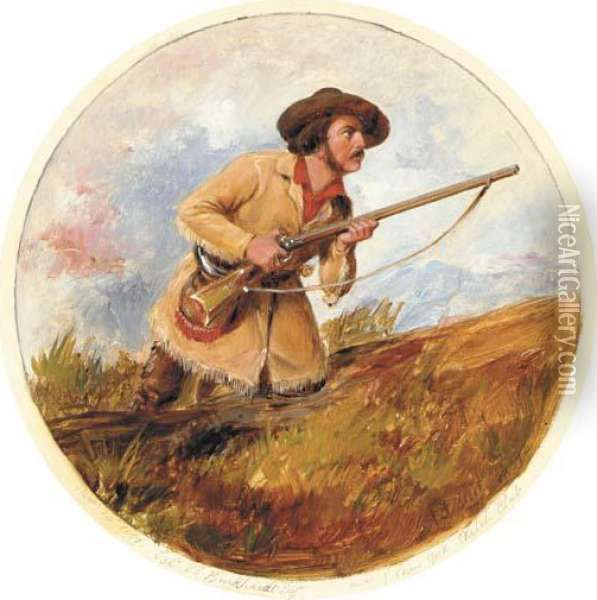 Ready To Fire Oil Painting - Arthur Fitzwilliam Tait