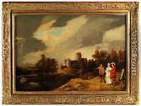 Landschaft Oil Painting - David The Younger Teniers
