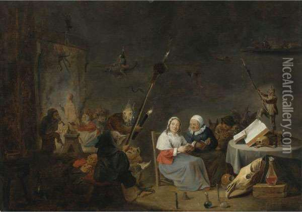 The Witches' Sabbath Oil Painting - David The Younger Teniers
