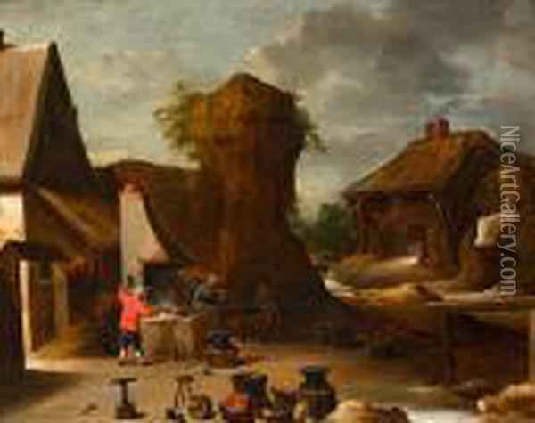 Vista Rural Oil Painting - David The Younger Teniers